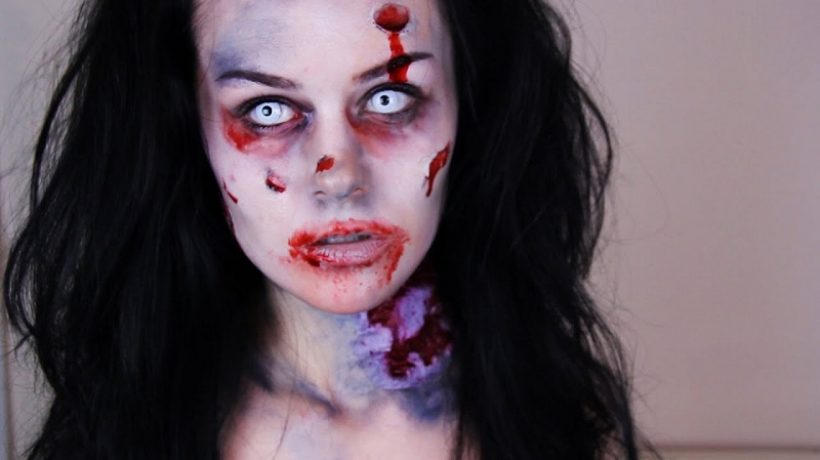 Zombie makeup for Halloween Party (homemade and easy!)